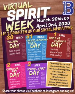 Kicking off our back to remote learning- Virtual Spirit Week